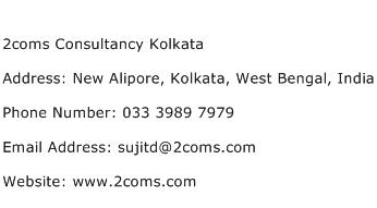 2coms Consultancy Kolkata Address Contact Number
