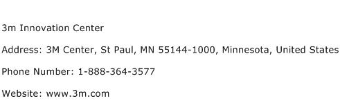 3m Innovation Center Address Contact Number