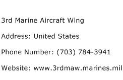 3rd Marine Aircraft Wing Address Contact Number