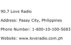 90.7 Love Radio Address Contact Number