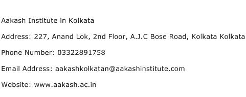 Aakash Institute in Kolkata Address Contact Number
