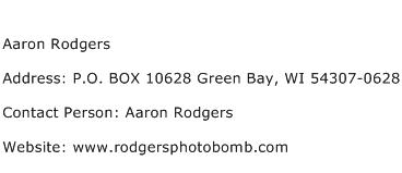 Aaron Rodgers Address Contact Number