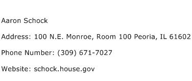 Aaron Schock Address Contact Number