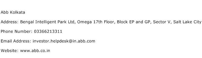Abb Kolkata Address Contact Number