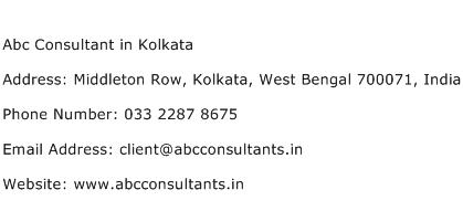 Abc Consultant in Kolkata Address Contact Number