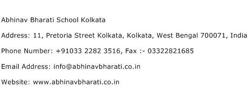 Abhinav Bharati School Kolkata Address Contact Number