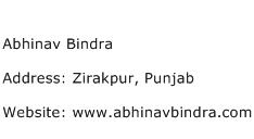 Abhinav Bindra Address Contact Number