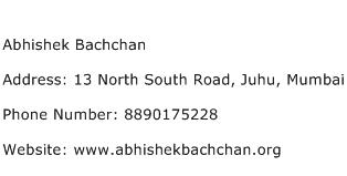 Abhishek Bachchan Address Contact Number