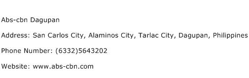 Abs cbn Dagupan Address Contact Number