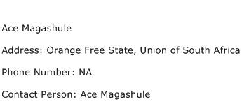 Ace Magashule Address Contact Number