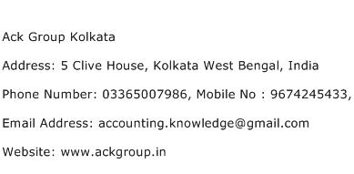 Ack Group Kolkata Address Contact Number