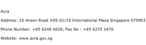 Acra Address Contact Number