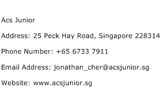 Acs Junior Address Contact Number