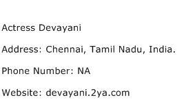 Actress Devayani Address Contact Number