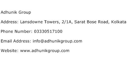 Adhunik Group Address Contact Number
