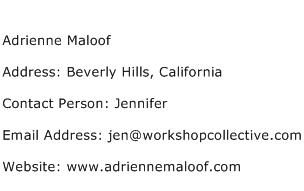 Adrienne Maloof Address Contact Number