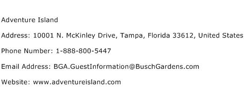Adventure Island Address Contact Number