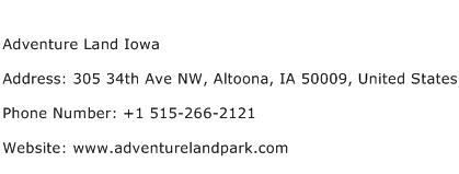 Adventure Land Iowa Address Contact Number