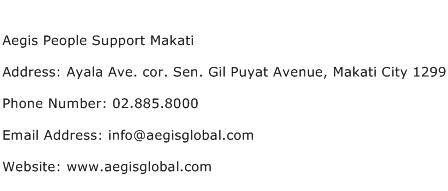 Aegis People Support Makati Address Contact Number