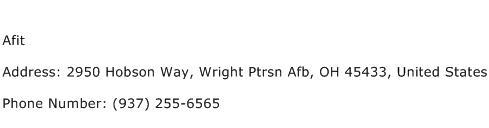 Afit Address Contact Number