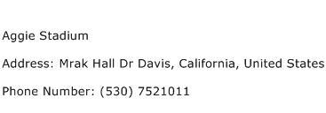 Aggie Stadium Address Contact Number