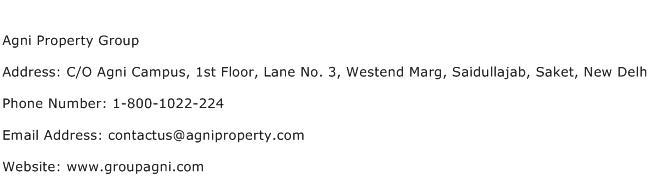 Agni Property Group Address Contact Number