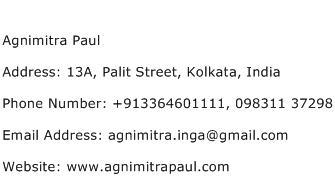 Agnimitra Paul Address Contact Number