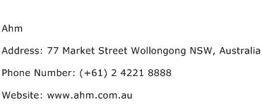 Ahm Address Contact Number