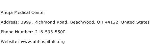 Ahuja Medical Center Address Contact Number