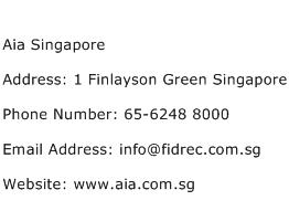 Aia Singapore Address Contact Number