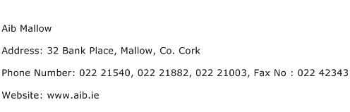 Aib Mallow Address Contact Number