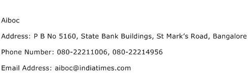 Aiboc Address Contact Number