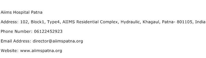 Aiims Hospital Patna Address Contact Number