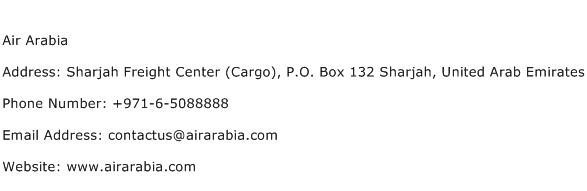 Air Arabia Address Contact Number