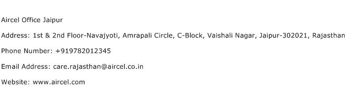 Aircel Office Jaipur Address Contact Number