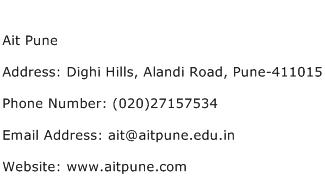 Ait Pune Address Contact Number