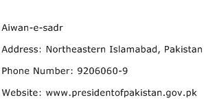Aiwan e sadr Address Contact Number
