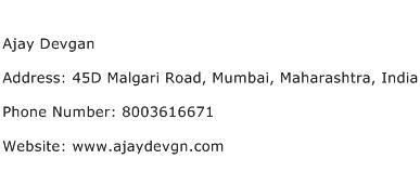 Ajay Devgan Address Contact Number