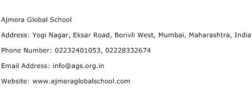 Ajmera Global School Address Contact Number
