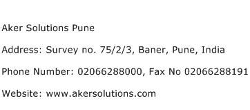 Aker Solutions Pune Address Contact Number