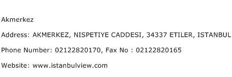 Akmerkez Address Contact Number