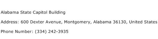 Alabama State Capitol Building Address Contact Number