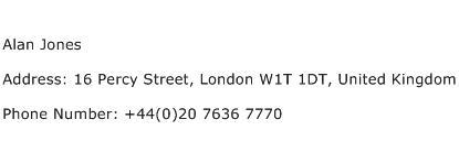 Alan Jones Address Contact Number