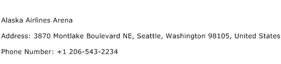 Alaska Airlines Arena Address Contact Number