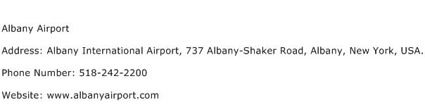Albany Airport Address Contact Number