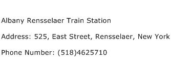 Albany Rensselaer Train Station Address Contact Number