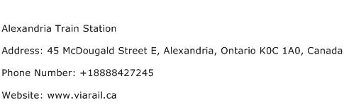Alexandria Train Station Address Contact Number
