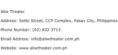 Aliw Theater Address Contact Number