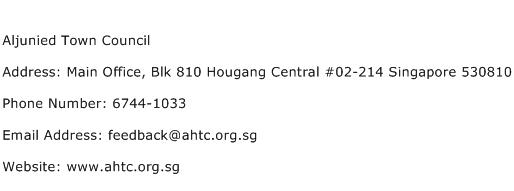 Aljunied Town Council Address Contact Number