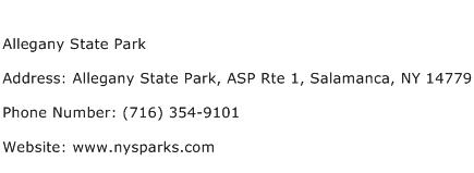 Allegany State Park Address Contact Number